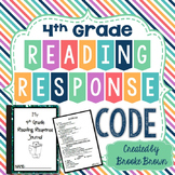 "Reading Response Journal ""Code"" for Fourth Grade"