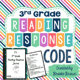 "Reading Response Journal ""Code"" for Third Grade"