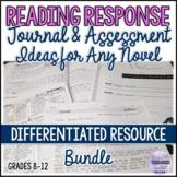 Reading Response Journal & Final Assessment Ideas for Novels