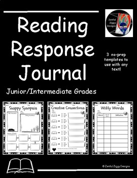 Reading Response Journal #1 (Junior/Intermediate)- No Prep!