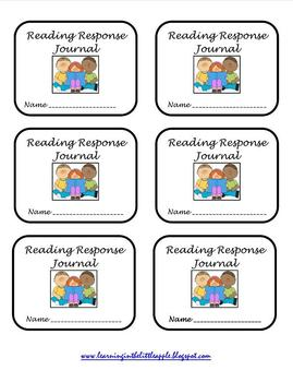 Reading Response Journal Labels and October Book Log