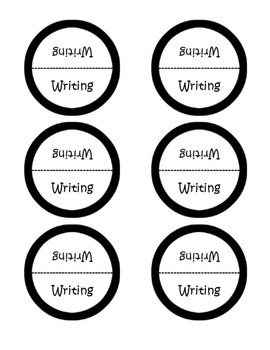 Reading Response Journal Labels