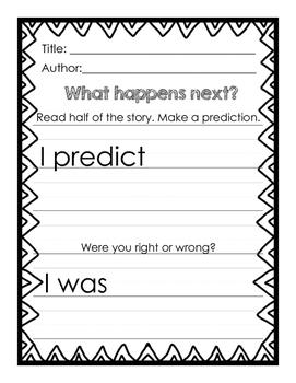 Reading Response Journal Printables - NO PREP!