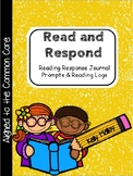Reading Response Journal Prompts and Reading Logs - 5th Gr