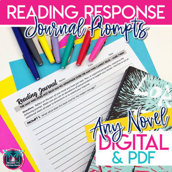 Reading Response Journal Prompts for Book Club or Independent Reading