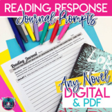 Reading Response Journal Prompts for Book Club or Independ