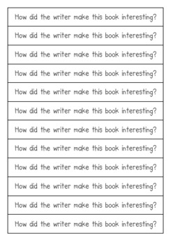 Reading Response Journal Prompts for Fiction and Non-Fiction Books
