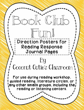 Reading Response Journal {Rainbow Readers Book Club Style} POSTERS