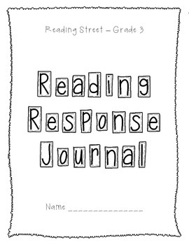 Reading Response Journal - Reading Street 2013, Grade 3 - Numbered Responses