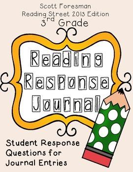 Reading Response Journal - Reading Street 2013, Grade 3 -