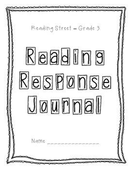 Reading Response Journal - Scott Foresman Reading Street 2013, Grade 3