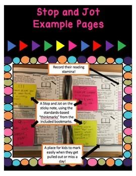 Reading Response Journal (Upper Elementary) - Stop and Jot