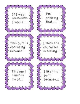 Reading Comprehension Prompt Cards