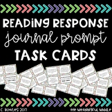 Reading Response Journal Prompt Task Cards