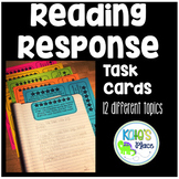 Reading Response Journal Task Cards