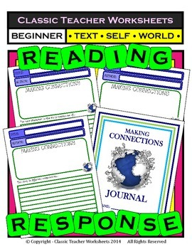 Reading Response Journal - Text-to-Text, Text-to-Self, Tex