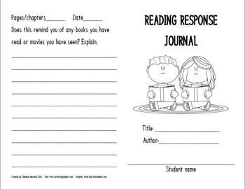 Reading Response Journal for Any Fiction Book