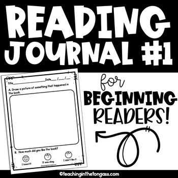 Reading Response Journal Free {Level 1}