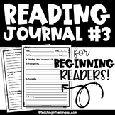 Reading Response Journal {Level 3}