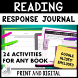 FOR ANY BOOK: Reading Response Journal, Respond to Reading, Lit Circle Packet