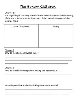 The Boxcar Children Reading Response Journal