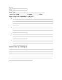 Reading Response Journal format