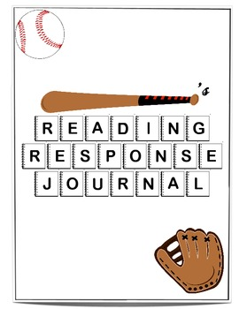 Reading Response Journal with Sports Cover