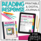 Reading Response Journals | Printable & Digital Journals |