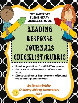 Reading Response Journals - Checklist/Rubric for Accountability