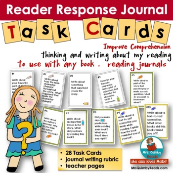 Reading Response Journals | Task Cards |  [Writing Prompts]