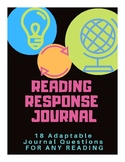 Reading Response Journals Reflection Writing Prompts - Adaptable for Any Text