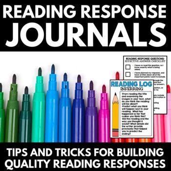 Reading Response Journal - Reading Strategies - Reading Log