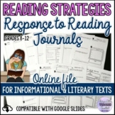 Reading Response Journals for Informational & Literary Tex