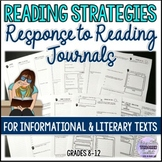 Reading Response Journals for Informational Texts and Nove
