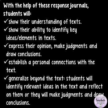 Reading Response Journals for Informational and Literary Texts (Reading Skills)