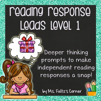 Reading Response Leads with Checklist, Example, & Rubric Level One