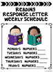 Reading Response Letter Procedures and Expectations