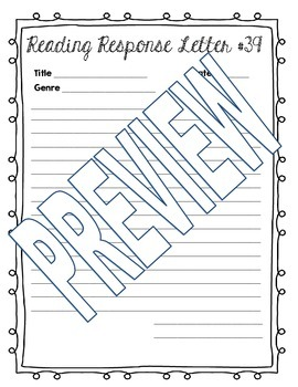 Reading Response Letters (Print Ready)