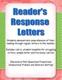 Reading Response Letters for Upper Elementary