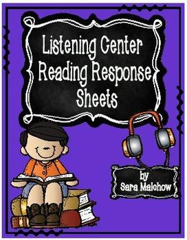 Reading Response Listening Center Listen to Reading Sheets