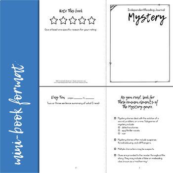 Independent Reading Response Journal Bundle