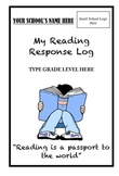 Reading Response Log - Monitoring Independent Reading at Home