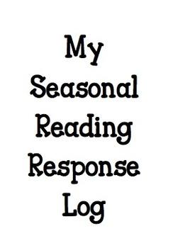 Reading Response Log--Seasonal