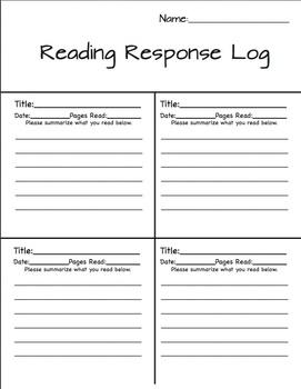 Reading Response Log - Summarize