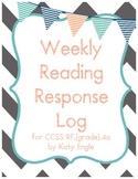 Reading Response Log for Comprehension