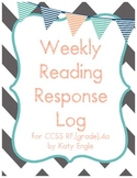 Reading Response Log for Comprehension