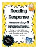 Reading Response Logs   ***INFORMATIONAL TEXT***  CC RI