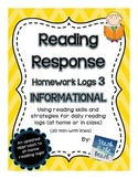 Reading Response Logs   ***INFORMATIONAL TEXT***  CC RI