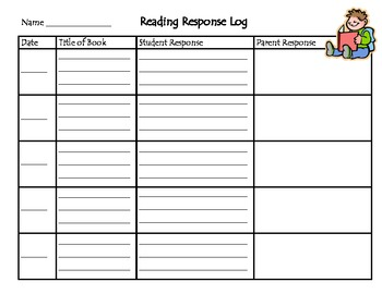 Reading Response Logs K-5
