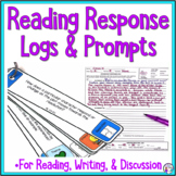 Reading Response Logs and Reading Comprehension Prompts Bundle